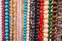 Colorful beads necklaces.