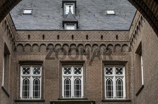 Innenhof, Schloss Moyland, Kleve, Niederrhein, NRW