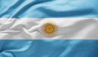 Waving national flag of Argentina