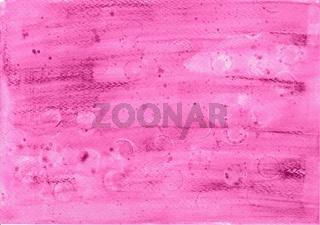 Von Hand mit Aquarell Buntstiften gezeichneter Hintergrund in Lila Farbe mit Seifenblasen Abdruck