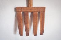 old wooden fork /  antique pitchfork