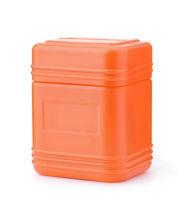 Blank orange plastic container