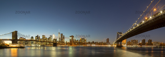 Panoramic view of Lower Manhattan, NYC