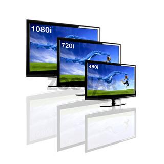 Comparison between 3 TV