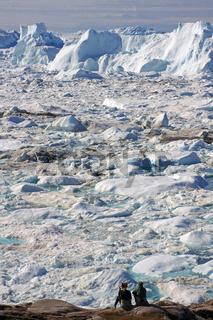 Staunen über das Eis des Jakobshavn Isbræ