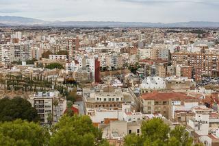 Overview of a city of Cartagena in region Murcia in Spain