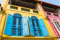 Colorful building facade in Singapore