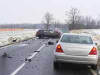 Damaged Cars on the Road