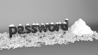 Password hash with salt crypt function concept 3d illustration