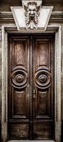 Mysterious wooden door