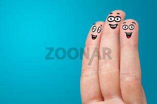 Smiling fingers together