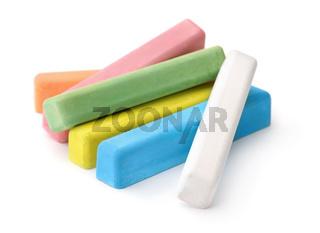 Set of color chalk sticks