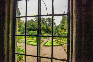 View from inside of the garden of the Gwydir Castle
