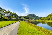 Radweg an der Elbe