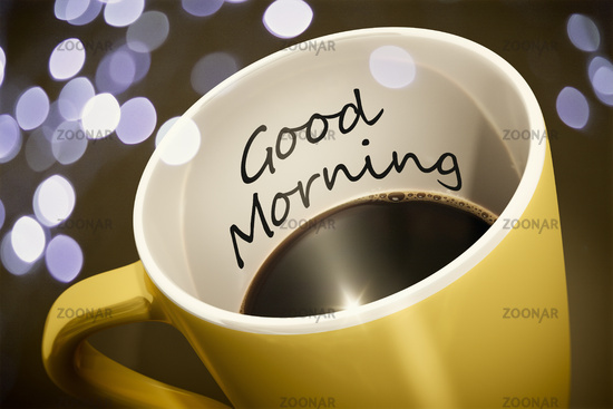 coffee cup surprise Good Morning