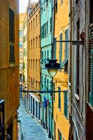 Sde street in  Genoa city