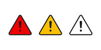 Set of attention isolated signs. Warning or danger symbols. Message constraction information.