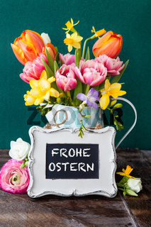 Froehliche bunte Blumen