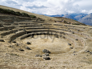 The Incan agricultural terraces at Moray, Maras, Peru
