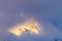 Abendstimmung im Akkamassiv, Lappland