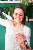 Organic shop with healthy food or vegetarianism, raw food