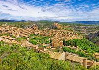 die mittelalterliche Stadt Alquezar, Aragon, Spain - the medieval town of Alquezar, Aragon, Spain