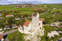 Katzenstein Castle near Dischingen, Ostalb, Swabian Alb, Baden-Wuerttemberg, Germany