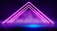 neon lights smoke background