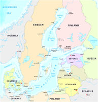 map of the baltic sea the marginal sea of the atlantic ocean