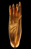 Golden hand of Buddha statue