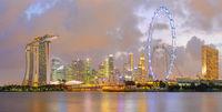 Singapore Marina Bay Downtown skyline