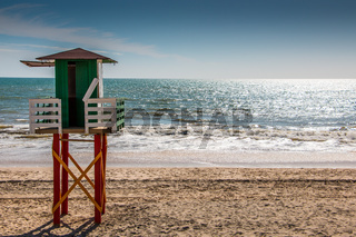 Lifeguard tower at the beach of Spain