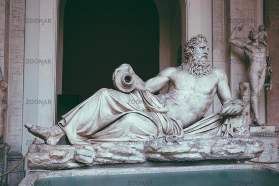 Baroque marble sculptures in Vatican