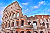 The Colosseum or Coliseum also known as Flavian Amphitheatre in the city of Rome