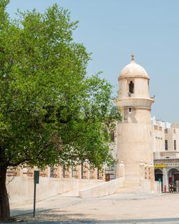 Souq Waqif Mosque minaret in Doha