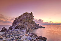 The sunrise at Agios Ioannis Kastri of Skopelos, Greece
