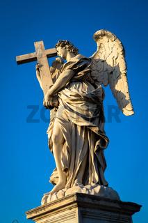 Catholic angel with cross