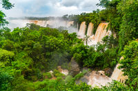 Landscape of The Famous Iguazu Falls at Argentina border
