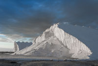 hills of pure sea salt