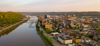 Long Panoramic View Charleston West Virginia Capitol City