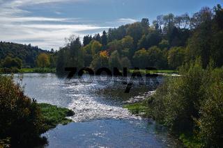 Mündung der Lauchert in den Lauchertsee, Schwäbische Alb