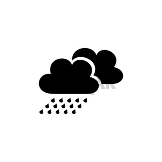 Rain with clouds. Isolated icon. Weather vector illustration