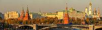 Autumn panorama of Moscow Kremlin