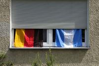 Fahnen, Flaggen Deutschland und Argentinien