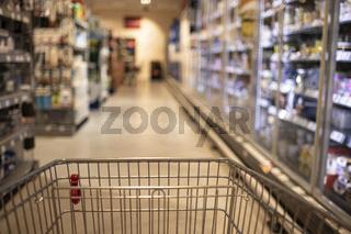 supermarket, shopping basket
