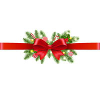 Xmas Garland Transparent Background