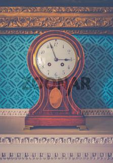 British Luxury Home Clock Detail