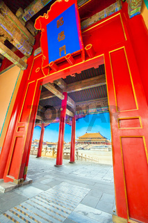 Forbidden City in Beijing North China