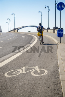 Fahrradweg in Frankfurt