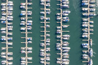 Overhead View Of A Marina On The Pacific Coast Highway